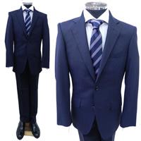 レンタルスーツ 紺地織柄ストライプ