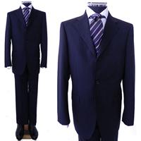 レンタルスーツ 濃グレー3つボタンスーツ